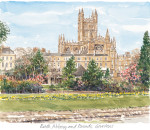 Bath Abbey from Avon