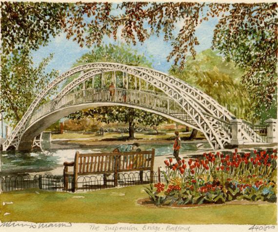 PB0875 Bedford - Suspension Bridge