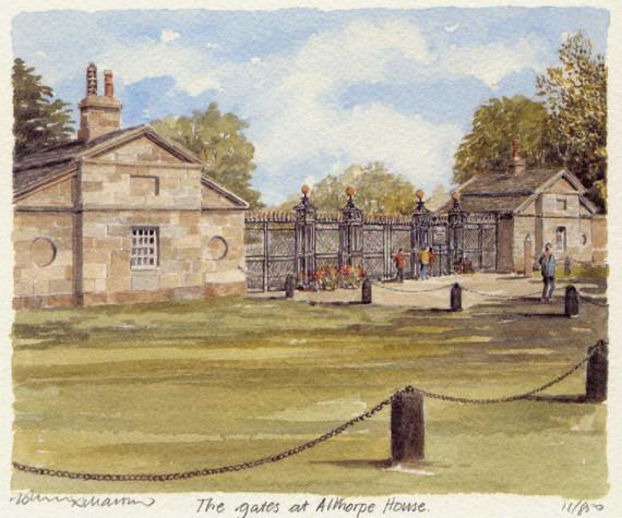 PB1123 Althorp House - The Gates
