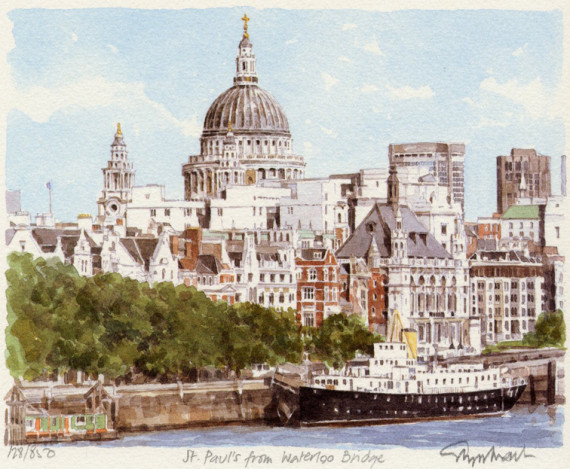 St Pauls from the Thames