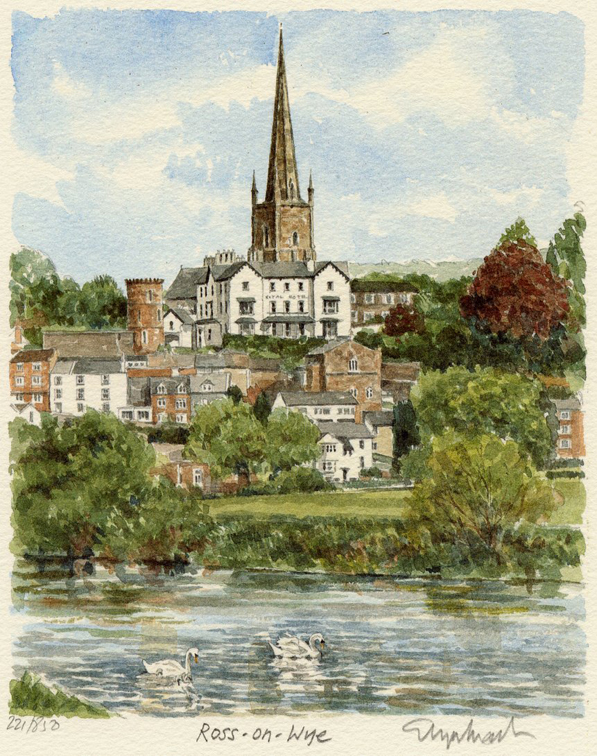 Ross-on-Wye - from river