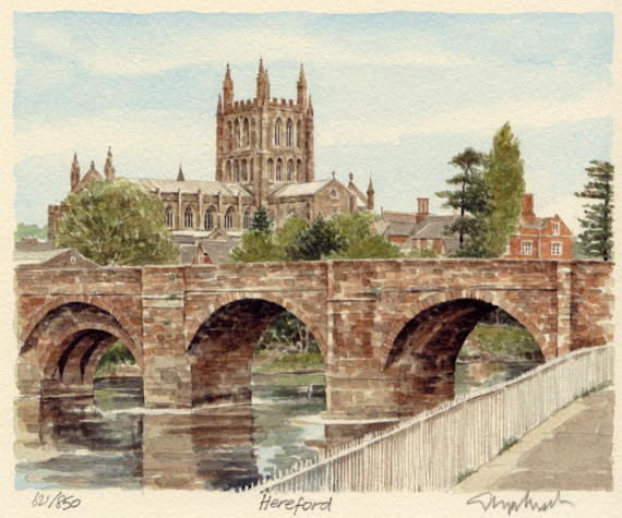 PB0546 Hereford - Bridge & Cathedral
