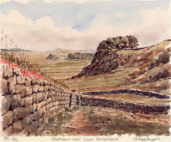 PB0704 Hadrian's Wall nr Housesteads