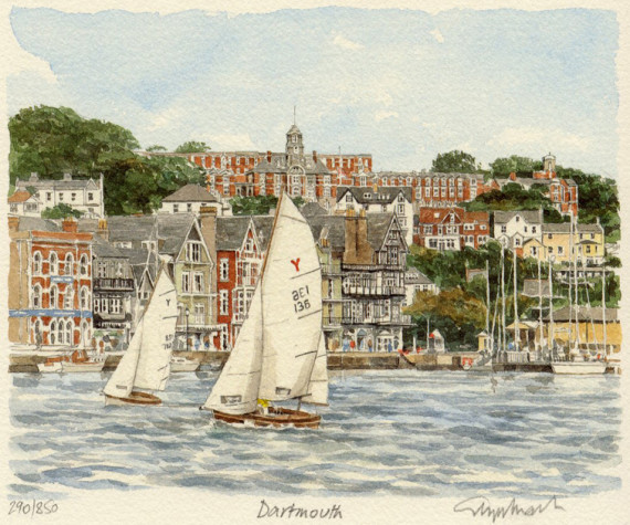 PB0745 Dartmouth - from river