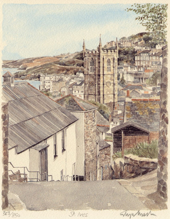 St Ives - downhill