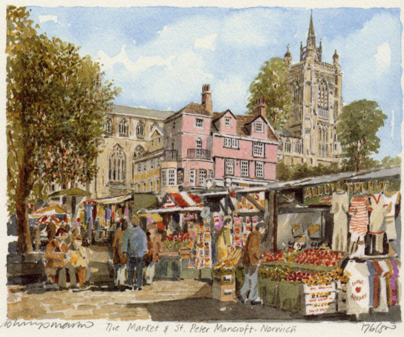 PB0777 Norwich - Mkt and St Peter Mancroft