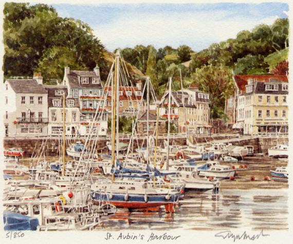 PB0815 Jersey - St Aubin's Harbour