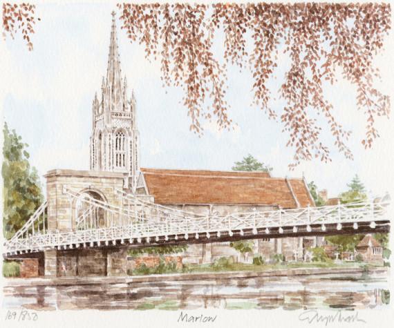 PB0850 Marlow - Bridge & Church