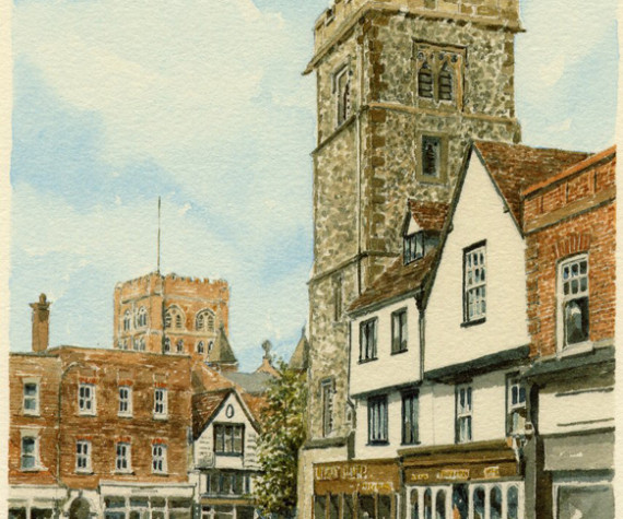 PB0937 St Albans - Clock Tower